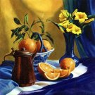 Daylilies and Oranges Large Limited Edition Art Print
