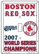 BOSTON RED SOX 2007 WORLD CHAMPIONS LIGHT SWITCH PLATE