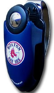 BOSTON RED SOX VISOR SUNGLASS HOLDER