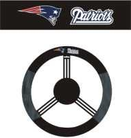 NE PATRIOTS POLY-SUEDE STEERING WHEEL COVER
