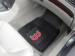 RED SOX VINYL FLOOR MATS  FREE SHIPPING
