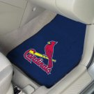 CARDINALS 2 PIECE FABRIC FLOOR MATS  FREE SHIPPING