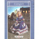 Crochet Pattern Lot of 2 - Western Cowboy & Cowgirl
