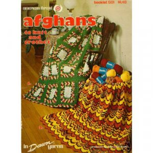 American Thread - Afghans to Knit And Crochet Patterns
