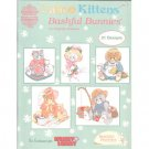 Calico Kittens & Bashful Bunnies Cross Stitch Pattern Leaflet