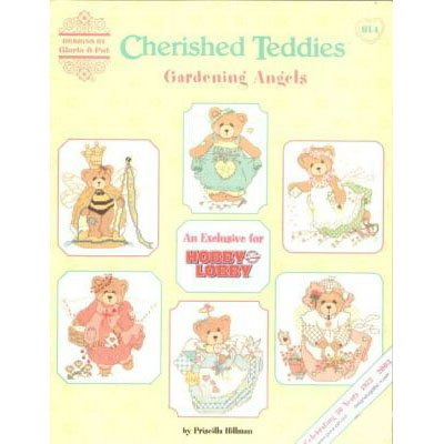 Cherished Teddies & Gardening Angels Cross Stitch Pattern Leaflet