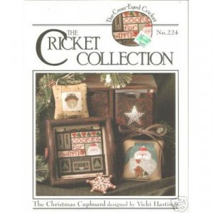 NEW ! Cricket Collection - Christmas Cupboard Cross Stitch Pattern