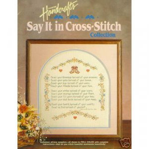 Say It In Cross Stitch