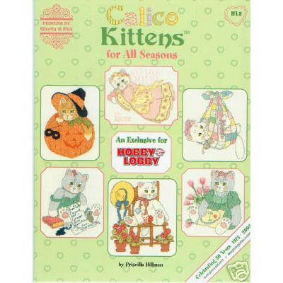 Calico Kittens For All Seasons - Cross Stitch
