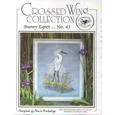 New ! Snowy Egret - Crossed Wing Collection