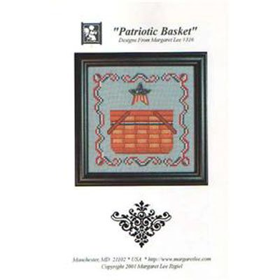 NEW !!  Patriotic Basket - Cross Stitch Pattern