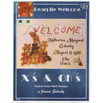 NEW !!  Bearpile Welcome - Cross Stitch Pattern