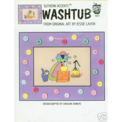 Washtub Cross Stitch Pattern