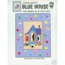 Blue House Cross Stitch Pattern