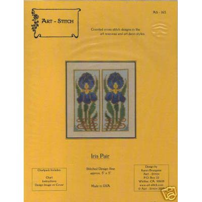 NEW Art-Stitch - Iris Pair - Cross Stitch Pattern