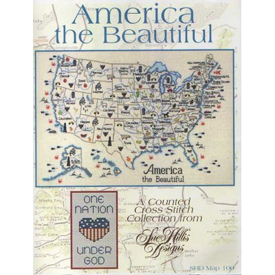 NEW  America The Beautiful Cross Stitch Pattern