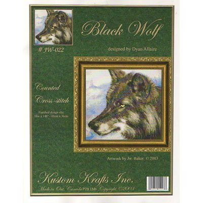 NEW !! Black Wolfe - A Cross Stitch Pattern