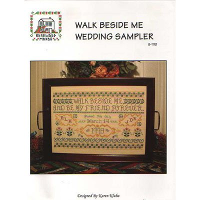 NEW !! Walk Beside Me Wedding Sampler - A Cross Stitch Pattern