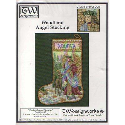 New !! Woodland Angel Stocking - A Cross Stitch Pattern