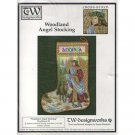 New !! Woodland Angel Stocking - A Cross Stitch Pattern