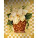 Single Magnolia Needlepoint Canvas