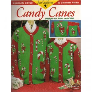 Candy Canes Duplicate Stitch Pattern