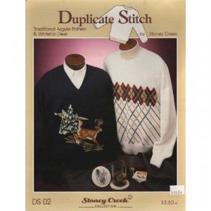 Traditional Argyle Pattern & Whitetail Deer Duplicate Stitch