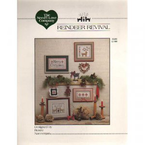 Reindeer Revival Cross Stitch Pattern Leaflet