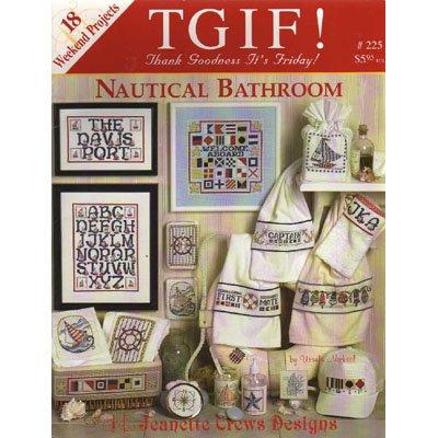Nautical Bathroom Cross Stitch Patterns