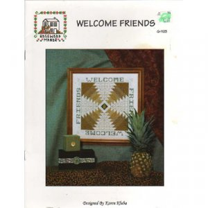 Welcome Friends Pineapple Quilt Cross Stitch Patterns