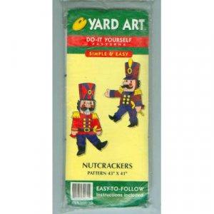 NEW ! Nutcrackers Yard-Art Pattern
