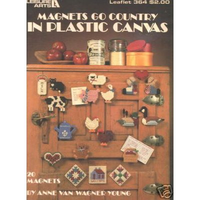 Leisure Arts Magnets Go Country in Plastic Canvas