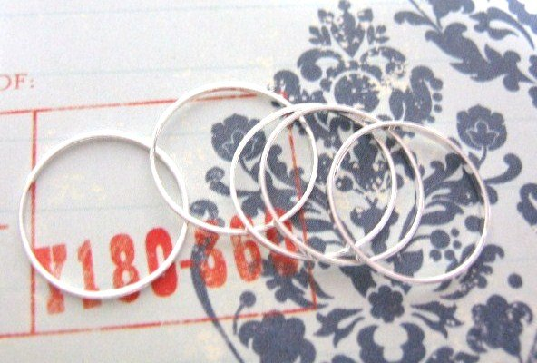 Closed Jump Rings 16mm Silver Tone Finish 20 Pieces