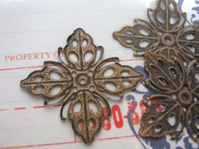Diamond Leaf Wrap 35mm Antiqued Bronze Finish