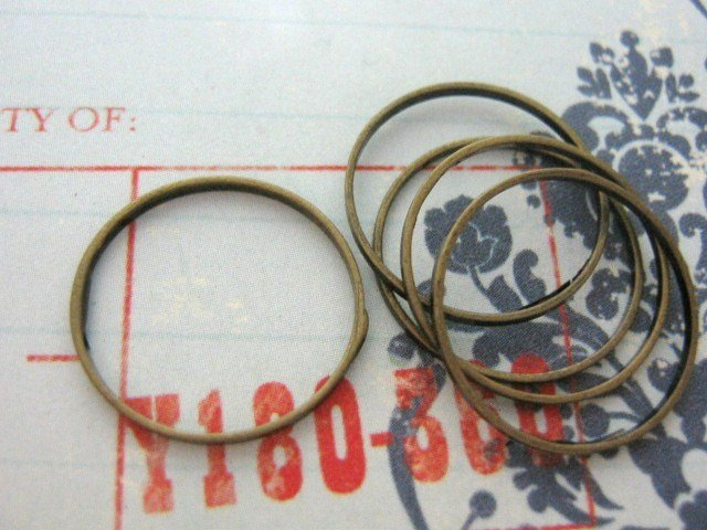 Closed Jump Ring 16mm Antiqued Bronze Finish 20 Jumprings