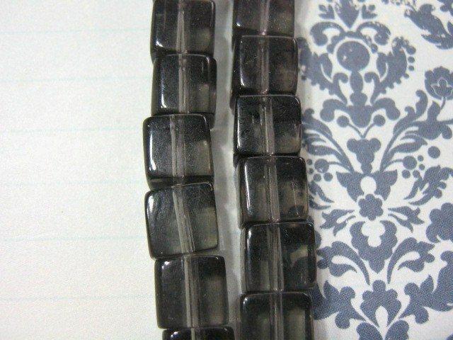 Smoke Glass Beads 8mm Cube