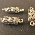 Connnector Filigree Silver Plated Finish 16x5mm