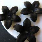 Black Matte 17mm Spike Flower Acrylic Plastic Beads
