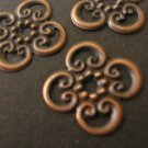 Bead Caps 13mm Antiqued Copper Jewelry Findings