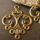 Findings Filigree Pendants 24x13mm Antique Bronze