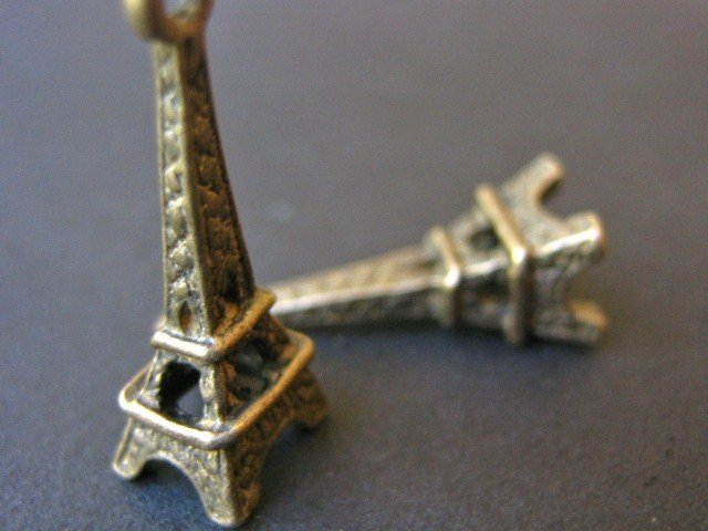 Eiffel Tower Charms 8x24mm Antique Bronze