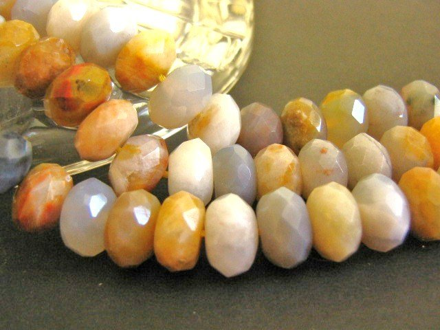 Crazy Lace Agate Beads 6x10mm Faceted Rondelle
