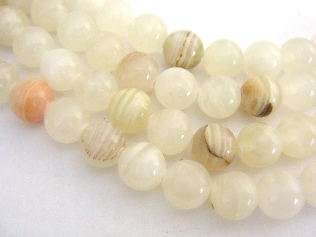 Italian Onyx Beads 8mm Round Calcite Gemstone