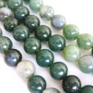 Moss Agate Gemstone Beads 6mm Round Green