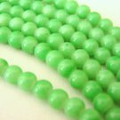 Opaque Green 4mm Round Glass Beads