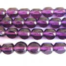 Purple 8mm Round 3 Cut Triangle Amethyst Czech Glass Beads