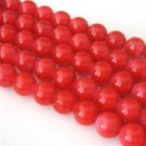 Red Opaque Glass Beads 8mm Round