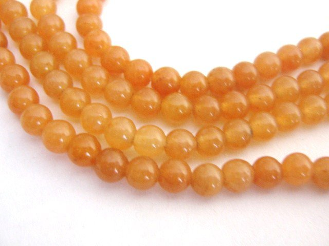 Red Aventurine Beads 4mm Round Gemstone