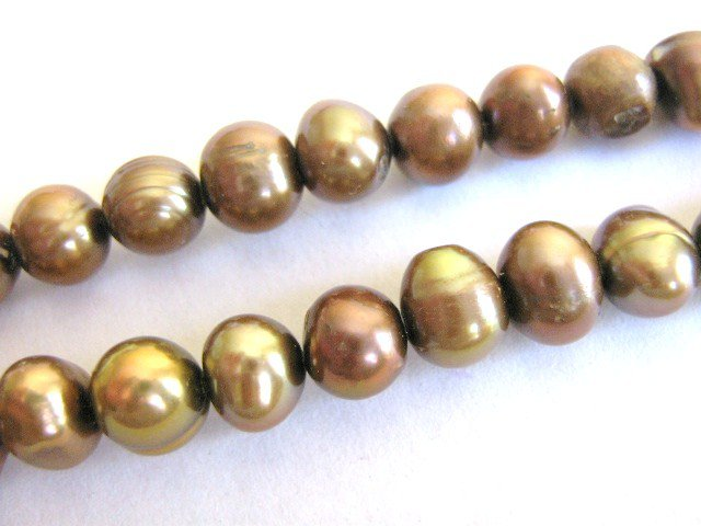 Cinammon Brown 6mm Potato Freshwater Pearls Beads
