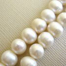 White 8mm Potato Freshwater Pearls Beads